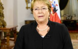 """In democracy, Chile has not lost its memory and has not forgotten its persecuted, executed and missing arrested children,"" said Bachelet"