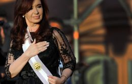 The Argentine leader in October 2011 was re-elected with 54% of ballots; now only 26.5% support her