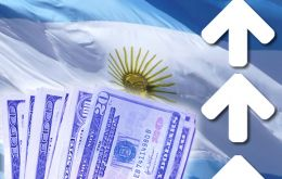 The 'blue' dollar closed trading at 15.10 Pesos, with the gap between the two rates increasing to approximately 80%