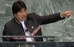 """These principles — the protection of life, land and peace — are constantly threatened by a system and a model: capitalism"", said Morales"