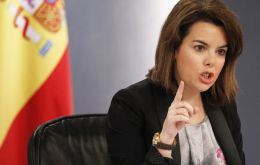 "Deputy Prime Minister Soraya Saenz de Santamaria warned that no one ""was above the national will of the Spanish people""."
