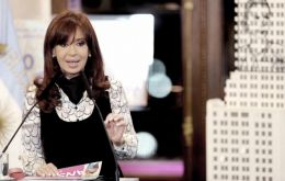 The Argentine president said Griesa's decision is in violation of international law and the UN and OAS charts (Pic Telam)