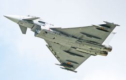 According to the report the jets thought to be Eurofighter Typhoons, were in Gibraltar airspace and attempts to communicate with them were ignored.