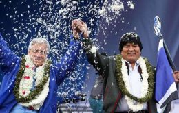 The first indigenous president of Bolivia managed over 60% of valid votes cast and victory in eight of nine regions