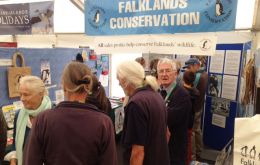 The Falklands' stand at the Bird Fair always busy