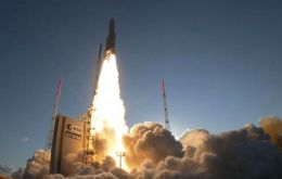 The launching took place in French Guiana base Kourou on an Arianne 5 rocket