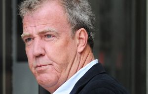 Jeremy Clarkson the controversial character of BBC's Top Gear who was recently in southern Argentina and allegedly had 'to flee' to Chile