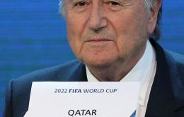 """We cannot play the World Cup in summer,"" said Blatter. 'The date which is the most convenient is the end of the year."""