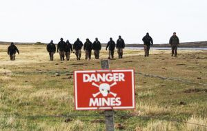 In the summer of 2013 demining experts from Zimbabwe were involved in successful clearance operations