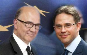 Moscovici and Katainen are to take center stage on Tuesday, when they are to present the European Commission's autumn economic forecast.