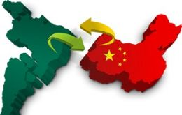 China was the largest customer for Brazilian exports in the first 10 months of 2014, with purchases worth 36.7 billion