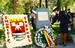 The Chilean Navy, Municipality of Coronel and the British Embassy organized a service of commemoration in Coronel attended by more than 300 people.