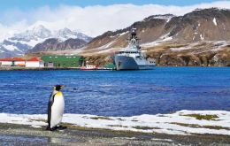 HMS Clyde at Grytviken, capital of the island that sits in the middle of the 'Furious Fifties'