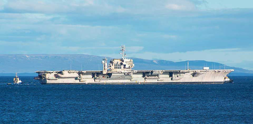 uss constellation carrier towed to the scrapyard along the coast of south america  u2014 mercopress
