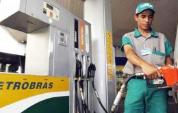 The cost of gasoline at the refinery gate rose 3% and diesel 5% midnight (0200 GMT) Friday, Petrobras said in a statement.