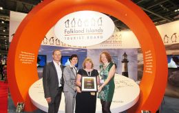The Falkland Islands Tourist Board Stand at World Travel Mart