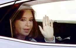"Cristina Fernandez was discharged given ""the good evolution of the sigmoiditis event"" she has shown over the past week"