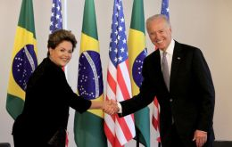 "After re-election Rousseff told Vice President Joe Biden that she wanted to restart discussions ""right away"" for a formal state visit"