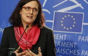 """I regret to see that many countries still consider protectionism a valid policy tool. said Cecilia Malmström, the EU Trade Commissioner."