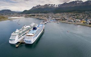 Half of tourists visiting Tierra del Fuego, 50% arrive in cruise vessels