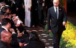 "Putin left the G20 summit in Brisbane early as Obama accused Russia of invading Ukraine and Britain warned of a possible ""frozen conflict"" in Europe. (Pic Reuters)"