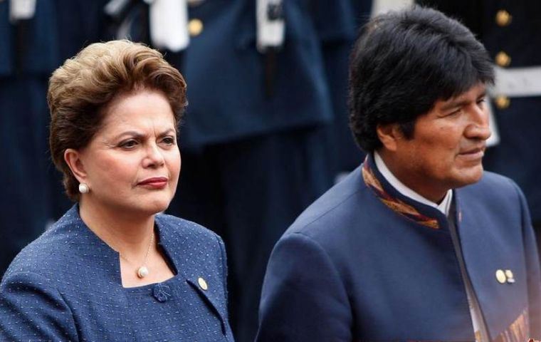 Brazil and Bolivia are waiting for the inaugurations of Rousseff and Morales before sending the protocol for congressional approval