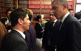 Kicillof revealed that in Australia Obama asked about the president's health condition, as did most world leaders