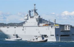One of the Mistral helicopter carriers ready for delivery as part of a contract for 1.2bn Euros