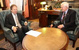 MLA Edwards met on Monday with Foreign Office minister Hugo Swire