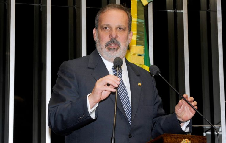 Monteiro, an industrialist and senator from Pernambuco, led Brazil's most powerful business lobby: National Industry Confederation, from 2002 to 2010.