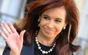 The Argentine president will be stepping down in December 2015