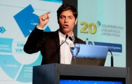 """The fall in prices is going to reduce the burden on the state's fuel purchases from abroad,"" Kicillof said on the sidelines of a business conference."