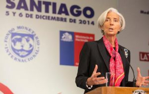 """I think our relationship has gotten better, and I want to continue improving it,"" Lagarde told reporters in Chile"