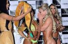 Indianara Carvalho, 22, won the bottom beauty contest Miss Bumbum 2014, beating favorite Claudia Alende, also kn