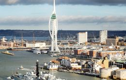HMS Iron Duke calling  Portsmouth