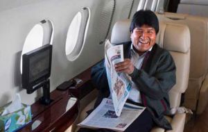 Evo Morales' estate below half a million US dollars