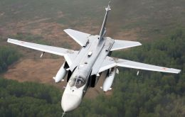 Russian-built Sukhoi Su-24 jets made available to Argentina.