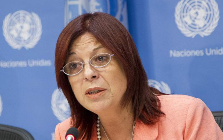 "Argentina's U.N. Ambassador Ms Perceval said the resolution will help ""other developing and developed countries that suffer and continue to suffer."""