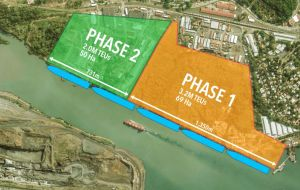 Upon completion, the port will have the capacity to handle more than five million TEUs within a 120-hectare area at the Canal's entrance to the Pacific