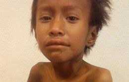 Seven year old Nestor spent the last forty days of his life in hospital, but never managed to recover (Pic Clarin)