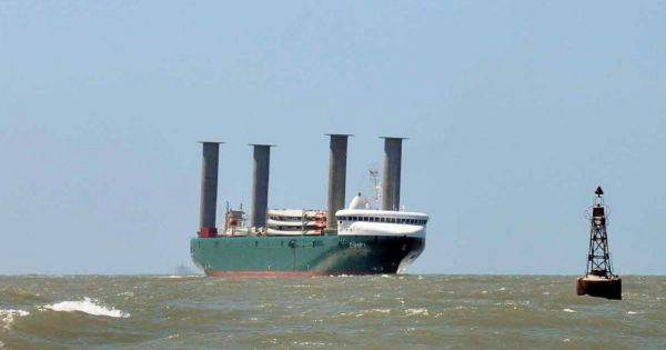 First Wind Powered Vessel Expected In Montevideo With Turbines For