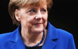 """I as German chancellor, and also the German government, have always pursued a policy of Greece staying in the euro zone,"" Merkel said in London"