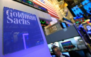 Goldman Sachs also anticipated that investment in the US shale gas industry would be held up at the current level of prices.