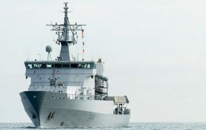 HMNZS Wellington had been trailing two of the vessels and collecting evidence of illegal fishing when it came across the third.
