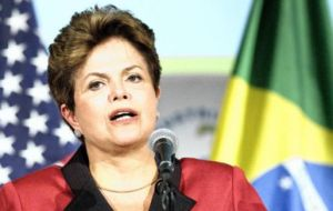 President Rousseff was a member of  Petrobras board from 2001 to 2010 and faces a standstill in construction activities because of the corruption scandal
