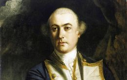 Vice Admiral John Byron claimed the Falklands for Britain in 21/23 January 1765