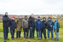 Pan-American delegates to the Falklands Science Symposium enjoying the penguins at Volunteer Point (Pic SAERI)
