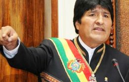 """In a short time we have improved the economic and social situation but we still have to consolidate our transformation process"" said the Bolivian leader"