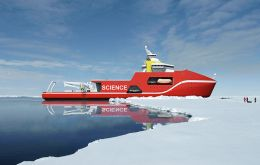 The design of the news BAS polar vessel which should be ready for operations in 2019 at a cost of £200 million