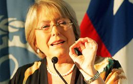 """We need good teachers with good salaries, with decent working conditions. We also need for schools to go back to the state"" said Bachelet"